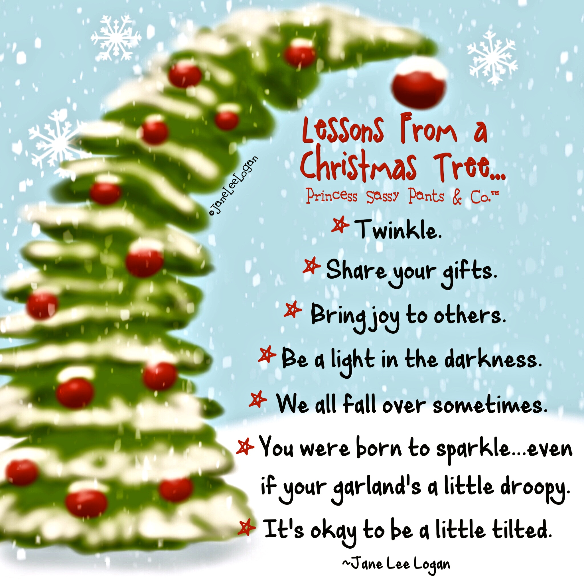 Poem About A Christmas Tree: Princess Sassy Pants & Co.™